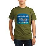 FIN-whale-talk-tail Organic Men's T-Shirt (dark)