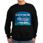 FIN-whale-talk-tail Sweatshirt (dark)