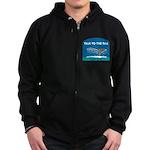 FIN-whale-talk-tail Zip Hoodie (dark)