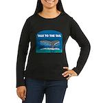 FIN-whale-talk-tail Women's Long Sleeve Dark T-Shi