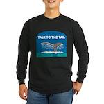 FIN-whale-talk-tail Long Sleeve Dark T-Shirt