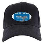 FIN-whale-talk-tail Black Cap with Patch