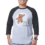 Dancing Teddy Bear Mens Baseball Tee