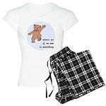 Dancing Teddy Bear Women's Light Pajamas