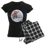 Dancing Teddy Bear Women's Dark Pajamas