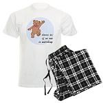 Dancing Teddy Bear Men's Light Pajamas