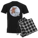 Dancing Teddy Bear Men's Dark Pajamas