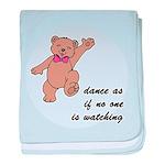 Dancing Teddy Bear baby blanket