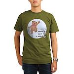 Dancing Teddy Bear Organic Men's T-Shirt (dark)