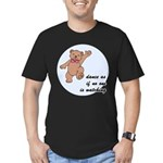 Dancing Teddy Bear Men's Fitted T-Shirt (dark)