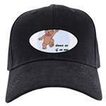 Dancing Teddy Bear Black Cap with Patch