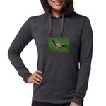 Funny Animals Greeting Cards Womens Hooded Shirt