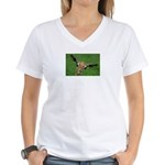 Funny Animals Greeting Cards Women's V-Neck T-