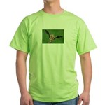 Funny Animals Greeting Cards Green T-Shirt