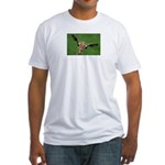 Funny Animals Greeting Cards Fitted T-Shirt