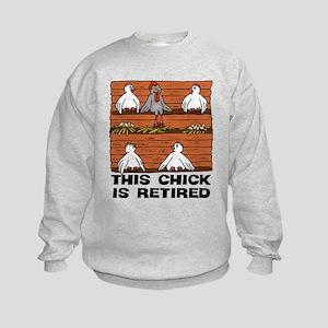 Retired Chick Kids Sweatshirt
