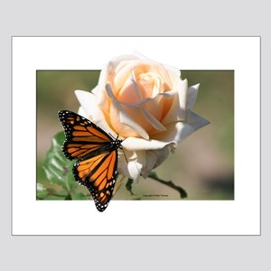 Jan's Rose & Monarch Small Poster