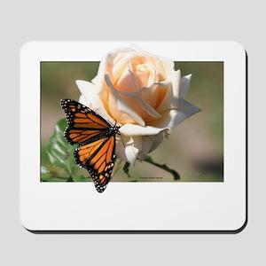 Jan's Rose & Monarch Mousepad