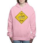 crossing-sign-chick Women's Hooded Sweatshirt