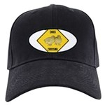 crossing-sign-chick Black Cap with Patch