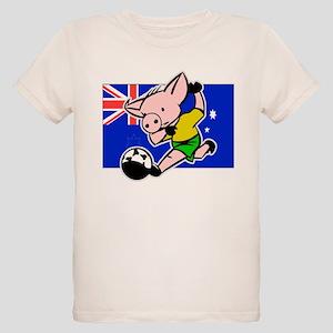 australia-soccer-pig Organic Kids T-Shirt
