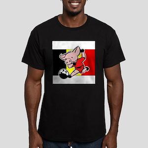belgium-soccer-pig Men's Fitted T-Shirt (dark)