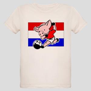 croatia-soccer-pig Organic Kids T-Shirt