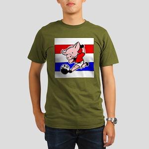 croatia-soccer-pig Organic Men's T-Shirt (dark)