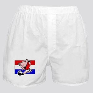croatia-soccer-pig Boxer Shorts
