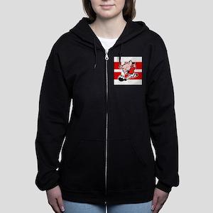 denmark-soccer-pig Women's Zip Hoodie