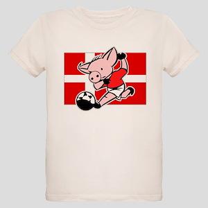 denmark-soccer-pig Organic Kids T-Shirt