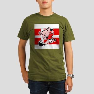 denmark-soccer-pig Organic Men's T-Shirt (dark)