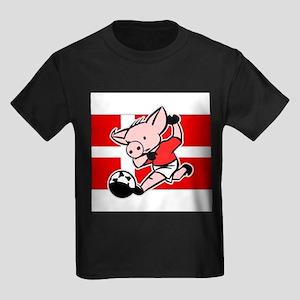 denmark-soccer-pig Kids Dark T-Shirt