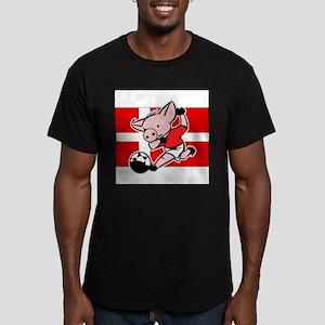 denmark-soccer-pig Men's Fitted T-Shirt (dark)
