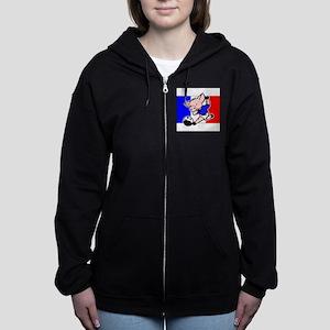 france-soccer-pig Women's Zip Hoodie