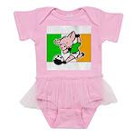 ireland-soccer-pig Baby Tutu Bodysuit