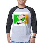 ireland-soccer-pig Mens Baseball Tee