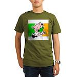 ireland-soccer-pig Organic Men's T-Shirt (dark)