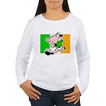 ireland-soccer-pig Women's Long Sleeve T-Shirt