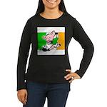 ireland-soccer-pig Women's Long Sleeve Dark T-Shir
