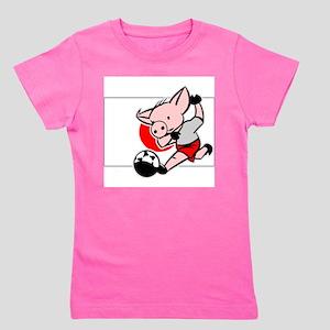 japan-soccer-pig Girl's Tee