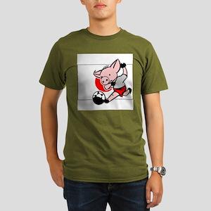 japan-soccer-pig Organic Men's T-Shirt (dark)
