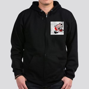 japan-soccer-pig Zip Hoodie (dark)