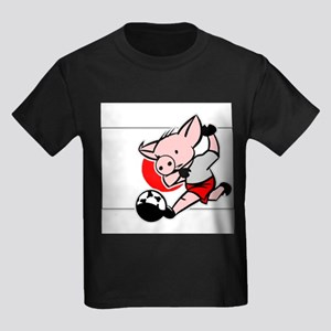 japan-soccer-pig Kids Dark T-Shirt