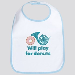 Will Play Horn for Donuts Bib