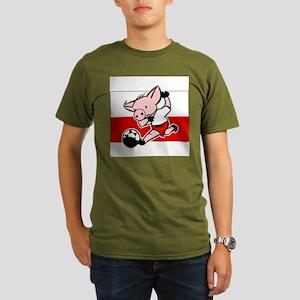 poland-soccer-pig Organic Men's T-Shirt (dark)