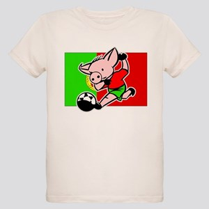 portugal-soccer-pig Organic Kids T-Shirt