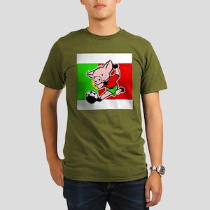 portugal-soccer-pig Organic Men's T-Shirt (dark)
