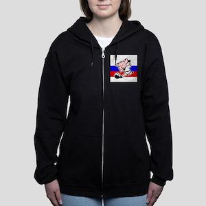 russia-soccer-pig Women's Zip Hoodie