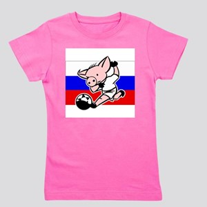 russia-soccer-pig Girl's Tee